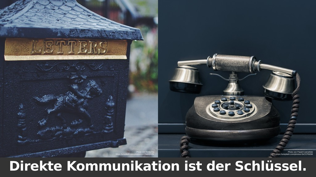 Direkte Kommunikation ist der Schlüssel. Photo ...