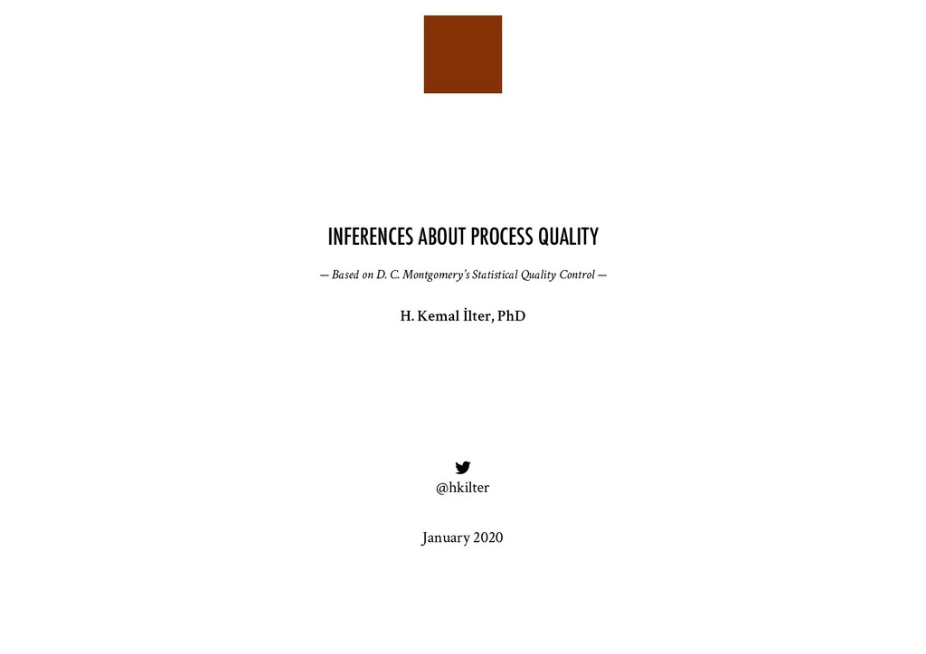 INFERENCES ABOUT PROCESS QUALITY — Based on D. ...