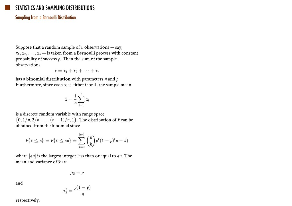 STATISTICS AND SAMPLING DISTRIBUTIONS Sampling ...