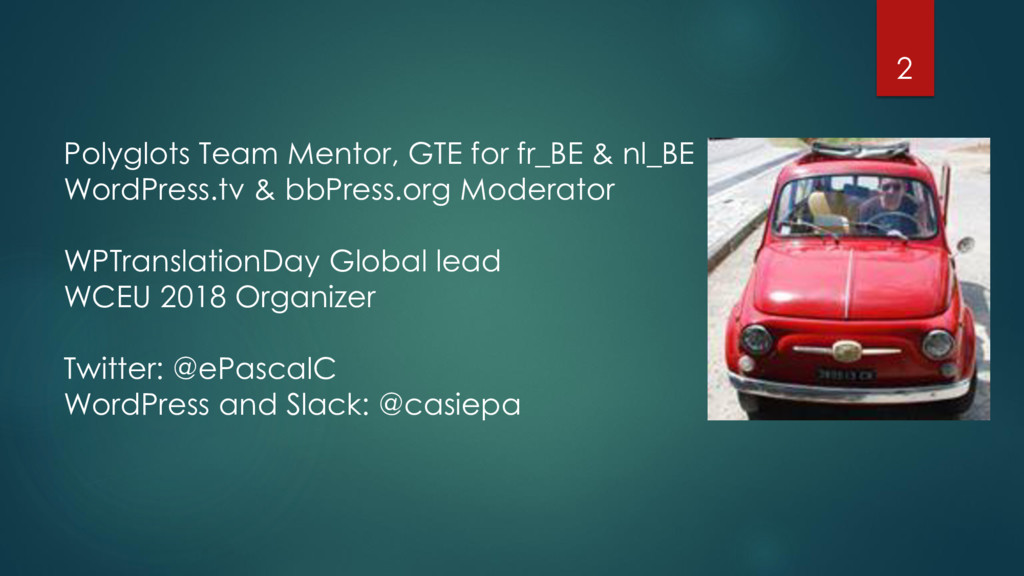 Polyglots Team Mentor, GTE for fr_BE & nl_BE Wo...