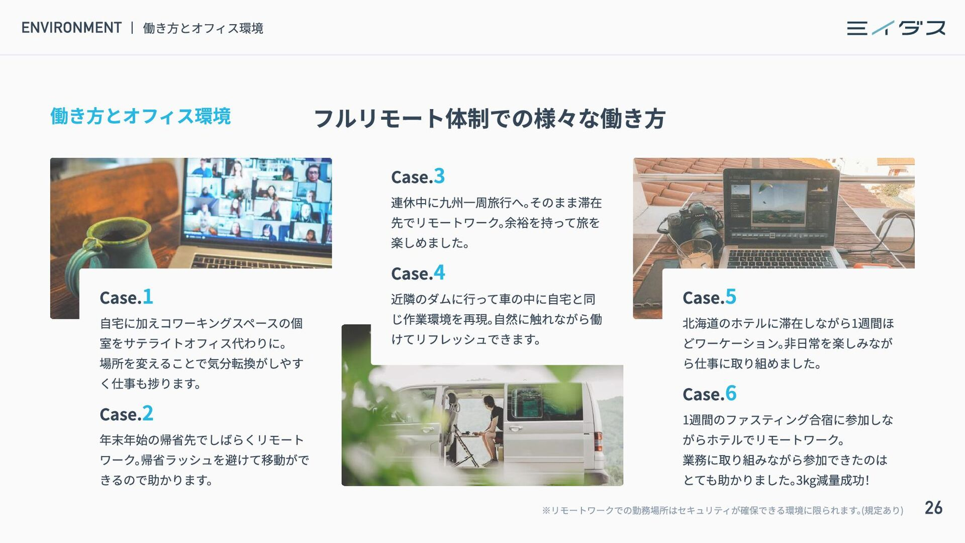 26 MESSAGE ミイダスからのメッセージ 目指す未来の実現に向けて ミイダスは、 人や組...