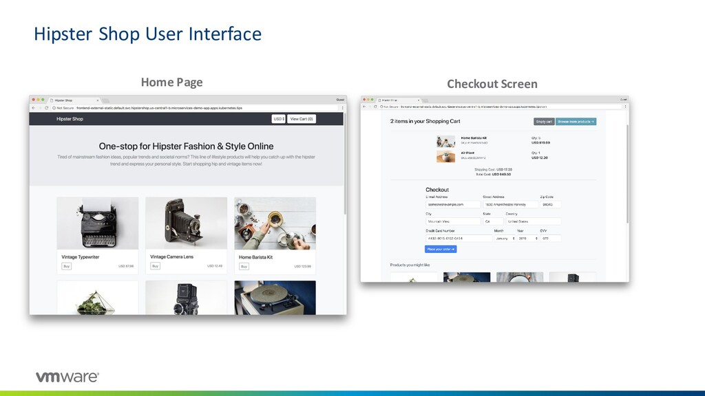 Hipster Shop User Interface Home Page Checkout ...