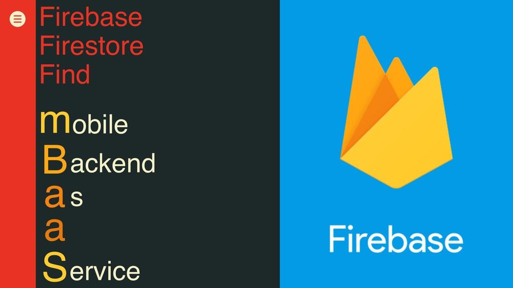 Firebase Firestore Find obile m S a a B s acken...