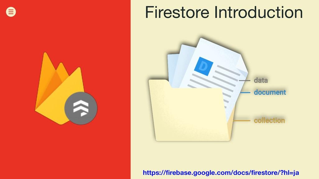 Firestore Introduction https://firebase.google....