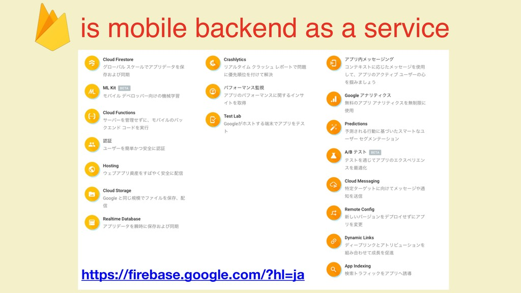 is mobile backend as a service https://firebase...