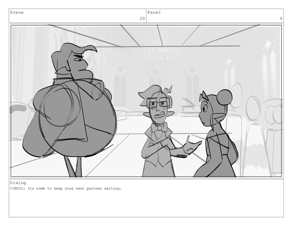 Scene 20 Panel 6 Dialog VIRGIL: Its rude to kee...