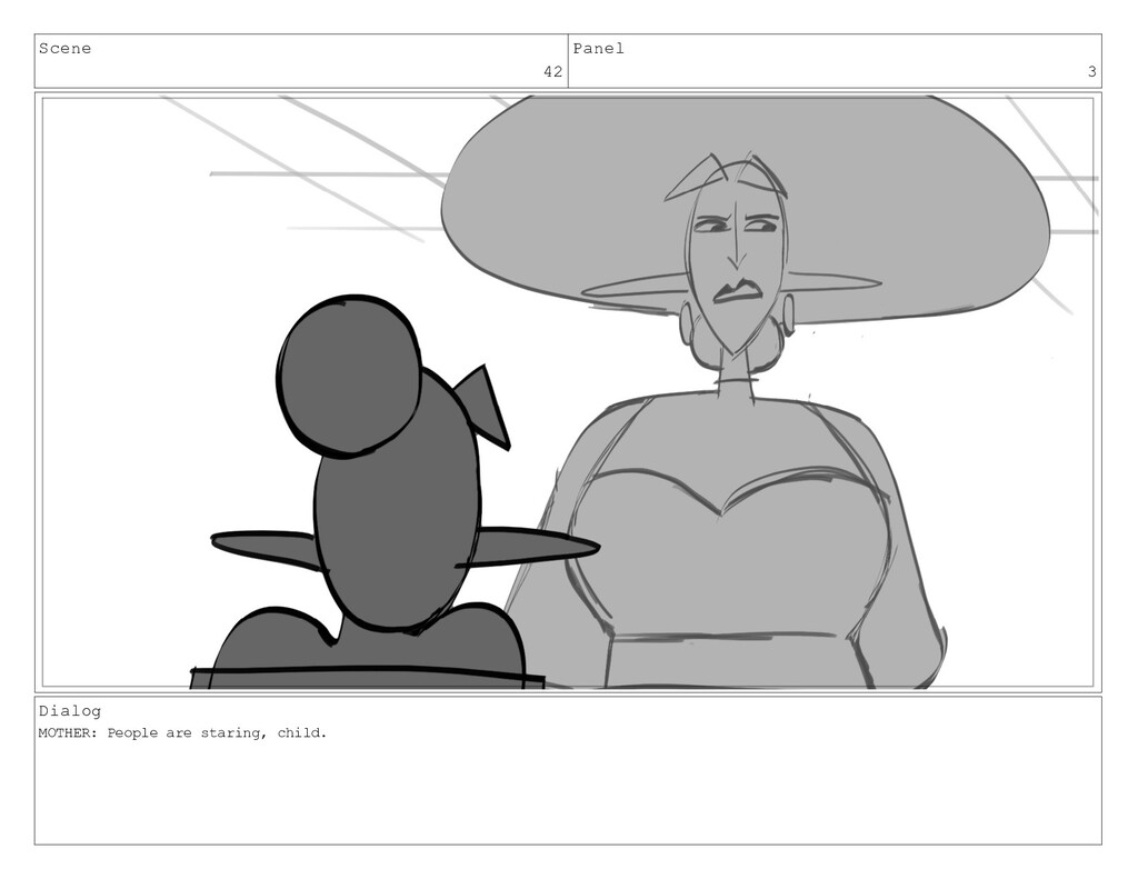 Scene 42 Panel 3 Dialog MOTHER: People are star...