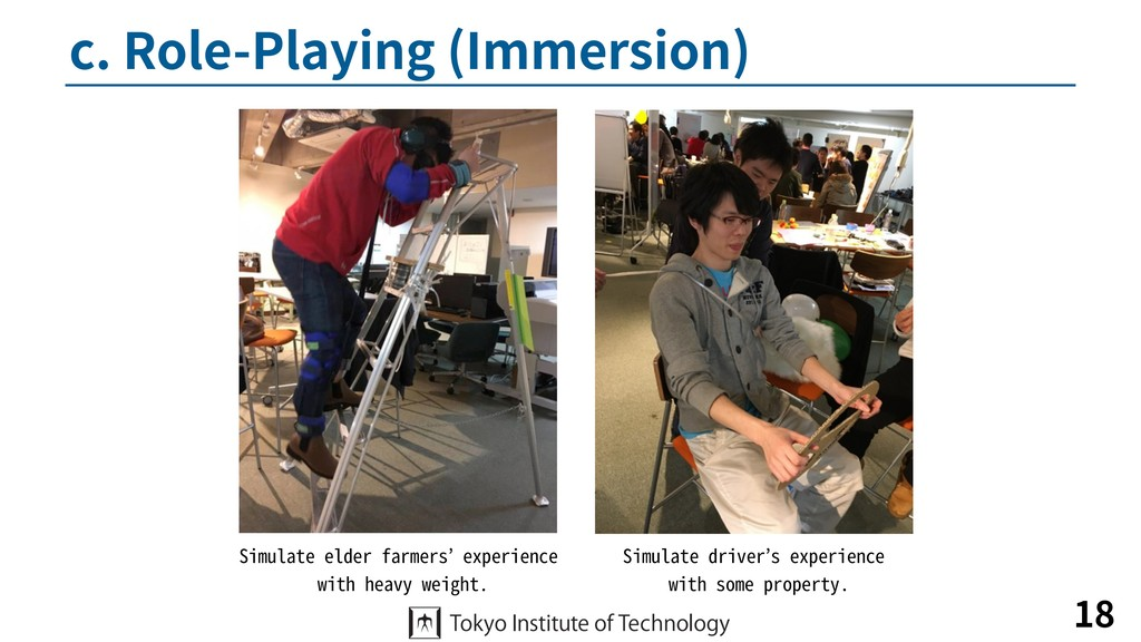 c. Role-Playing (Immersion) 18 Simulate elder f...