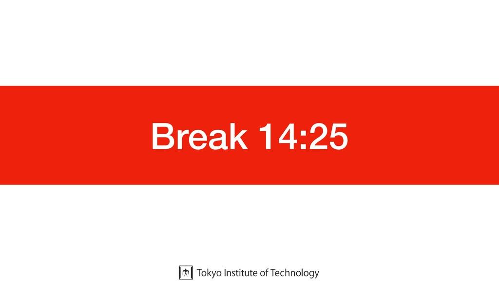 Break 14:25