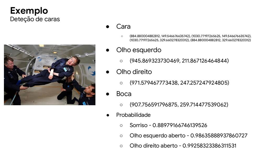 Exemplo ● Cara ○ (884.880004882812, 149.5466766...
