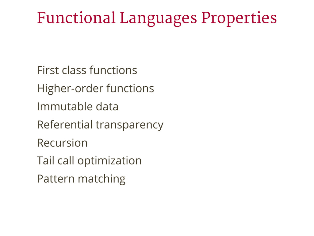 First class functions Higher-order functions Im...