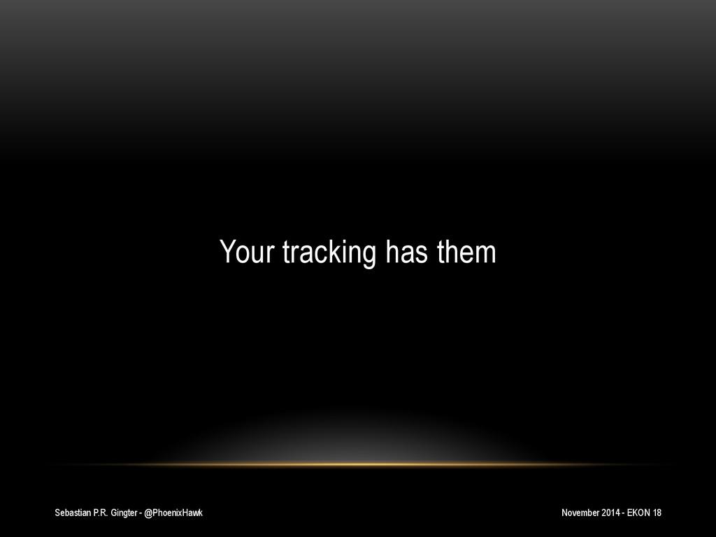 Sebastian P.R. Gingter - @PhoenixHawk Your trac...