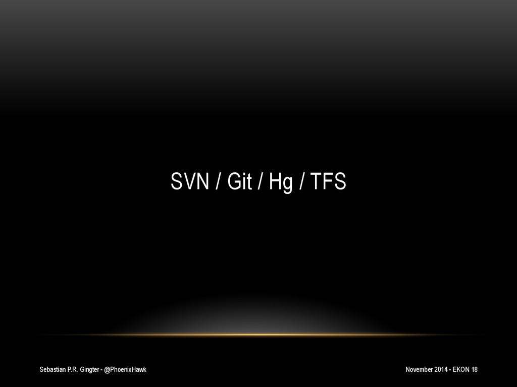 Sebastian P.R. Gingter - @PhoenixHawk SVN / Git...