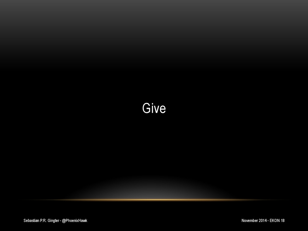 Sebastian P.R. Gingter - @PhoenixHawk Give Nove...