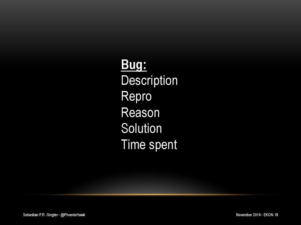 Sebastian P.R. Gingter - @PhoenixHawk Bug: Desc...