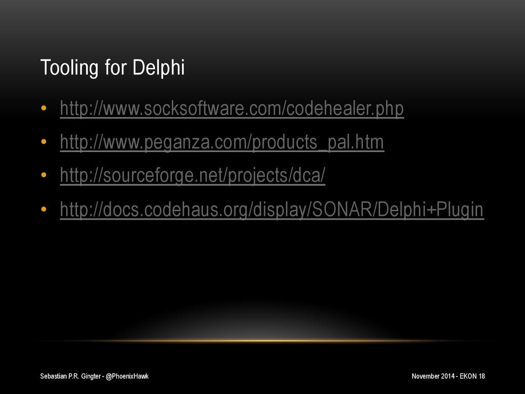 Tooling for Delphi • http://www.socksoftware.c...