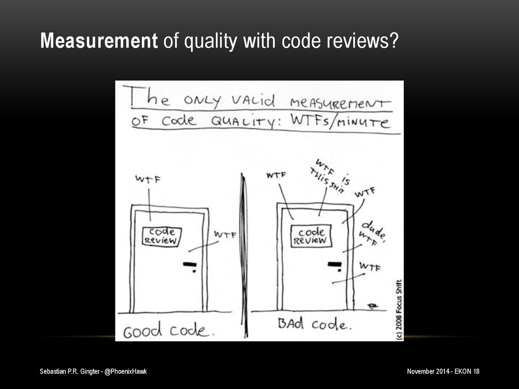 Measurement of quality with code reviews? Sebas...