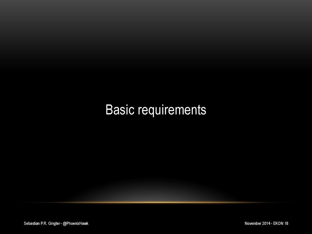 Sebastian P.R. Gingter - @PhoenixHawk Basic req...