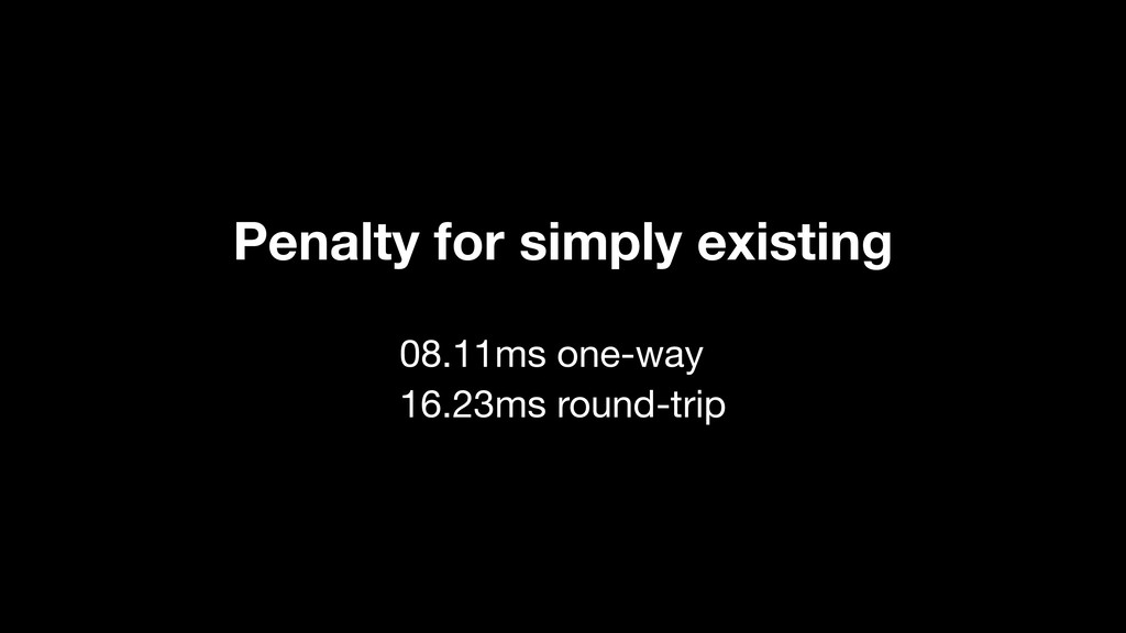 08.11ms one-way 16.23ms round-trip Penalty for ...