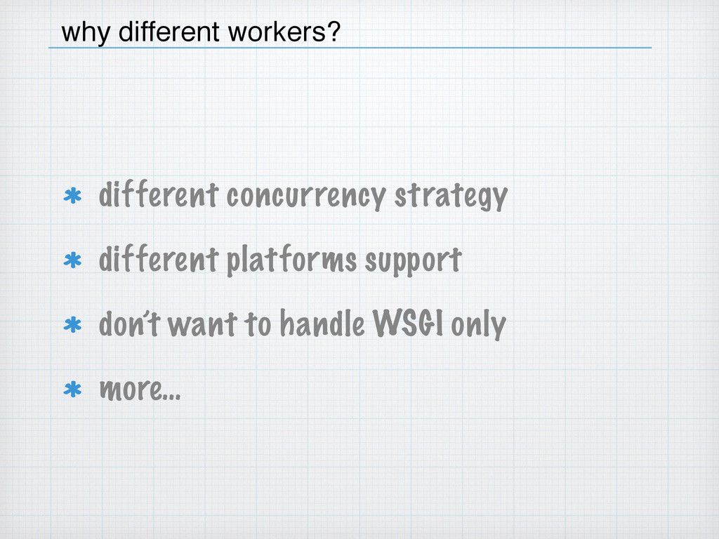different concurrency strategy different platfo...