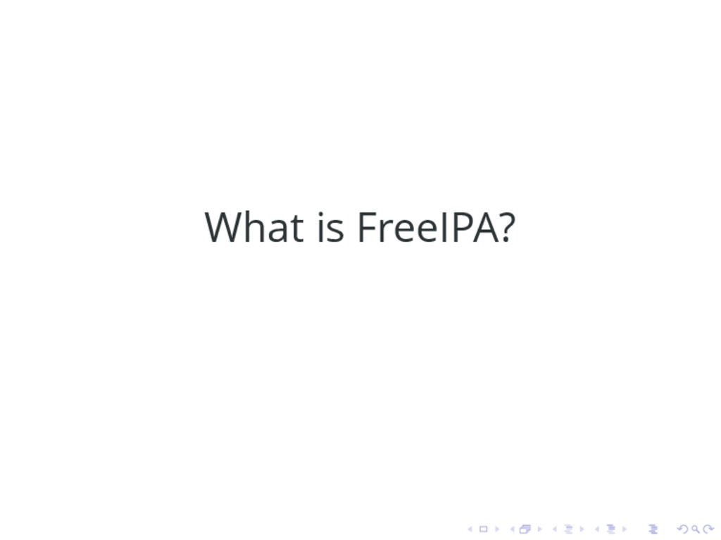 What is FreeIPA?