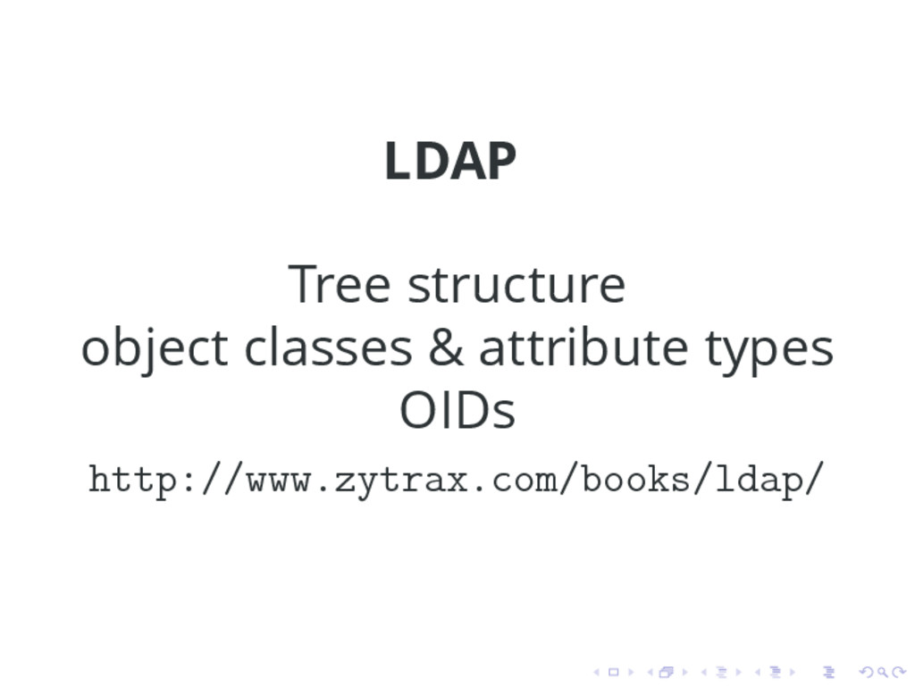 LDAP Tree structure object classes & attribute ...