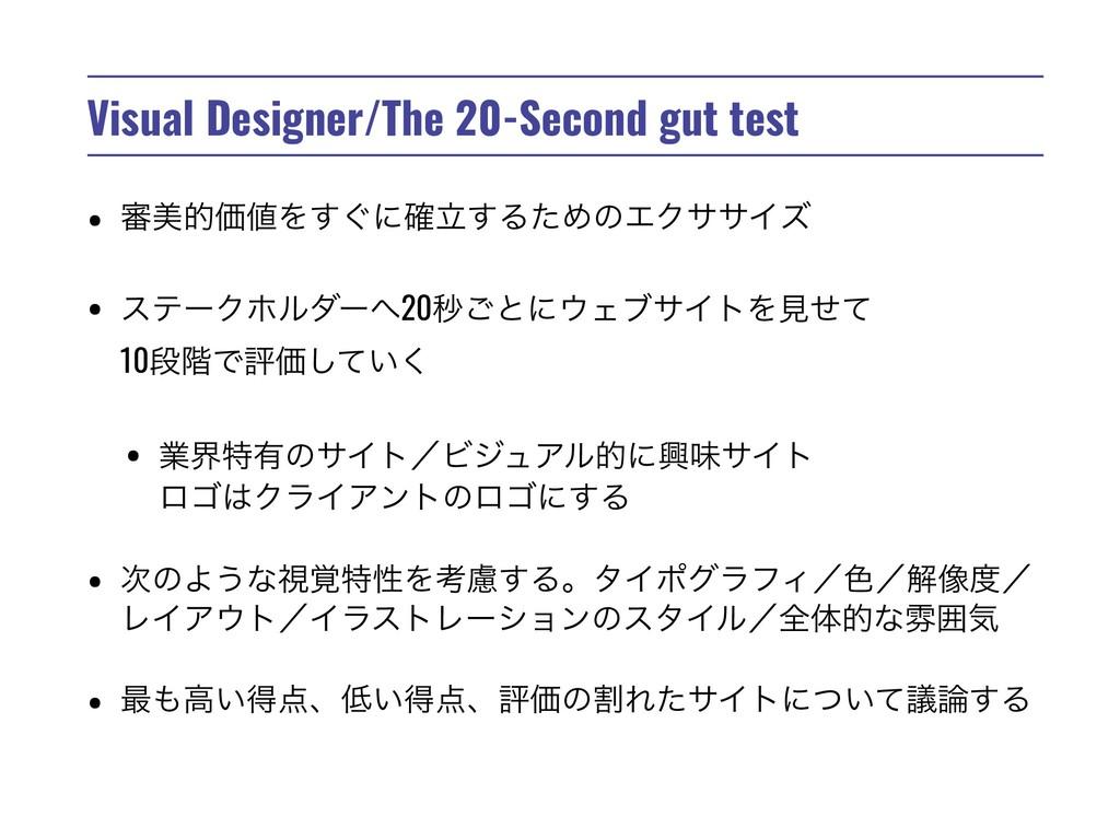 Visual Designer/The 20-Second gut test • ৹ඒతՁΛ...