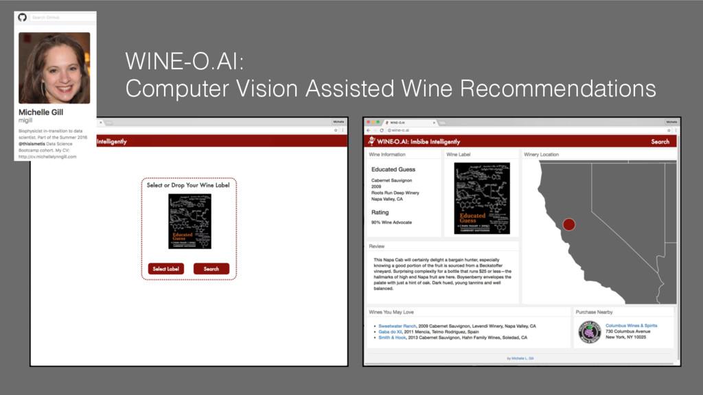 WINE-O.AI: ! Computer Vision Assisted Wine Reco...