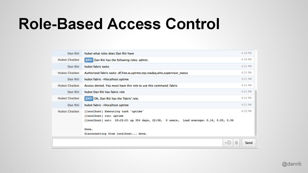 @danriti Role-Based Access Control