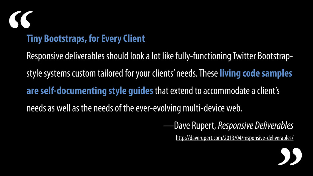Tiny Bootstraps, for Every Client Responsive de...
