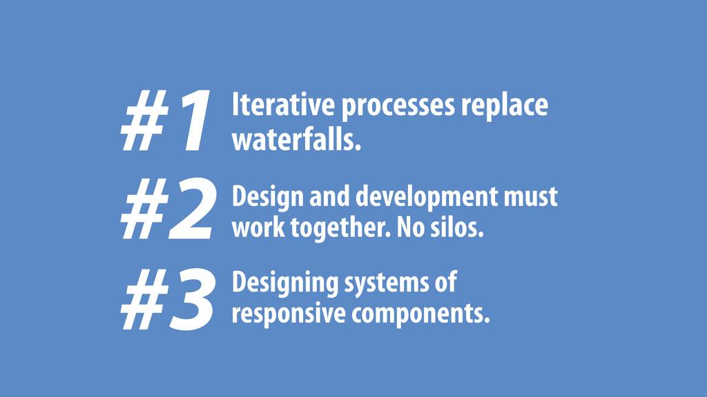 #1 Iterative processes replace waterfalls. Desi...