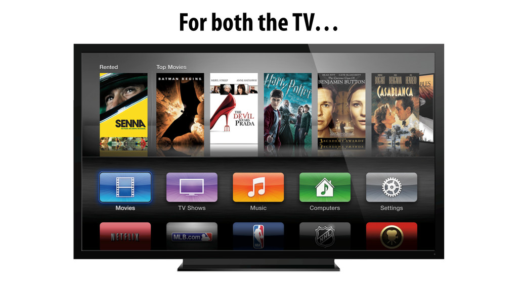 For both the TV…