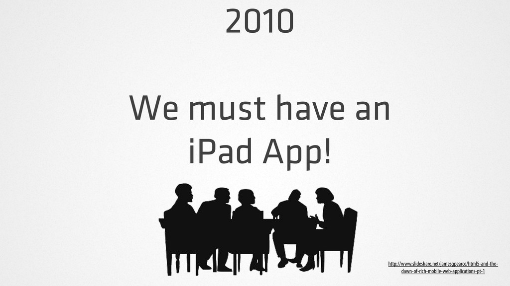 2010 We must have an iPad App! http://www.slide...