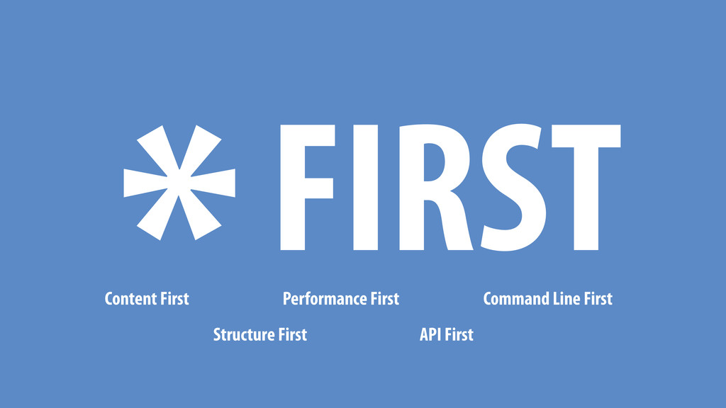 *FIRST Content First Structure First Performanc...