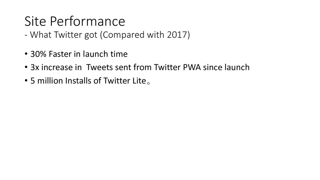 Site Performance - What Twitter got (Compared w...