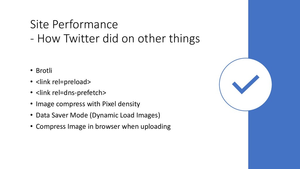 Site Performance - How Twitter did on other thi...