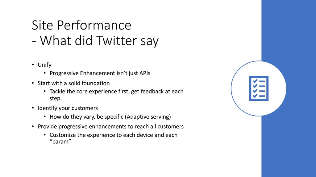 Site Performance - What did Twitter say • Unify...