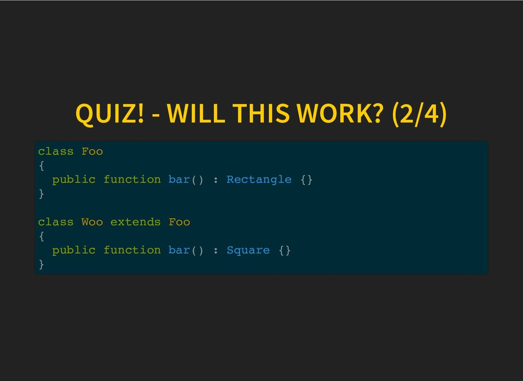 QUIZ! - WILL THIS WORK? (2/4) QUIZ! - WILL THIS...