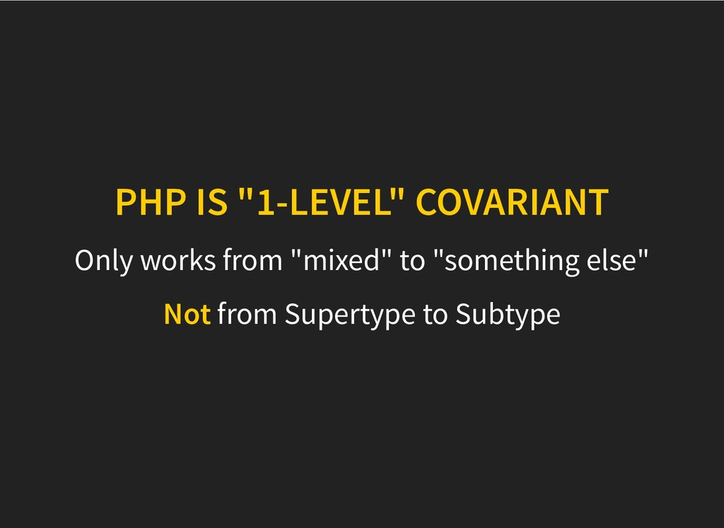 "PHP IS ""1-LEVEL"" COVARIANT PHP IS ""1-LEVEL"" COV..."