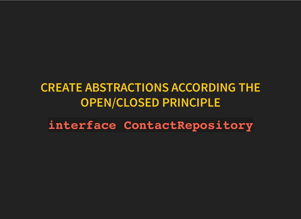 CREATE ABSTRACTIONS ACCORDING THE CREATE ABSTRA...