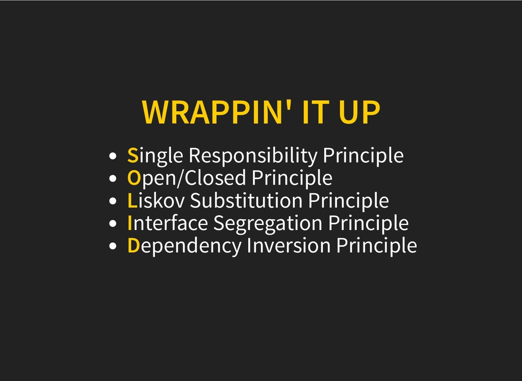 WRAPPIN' IT UP WRAPPIN' IT UP Single Responsibi...
