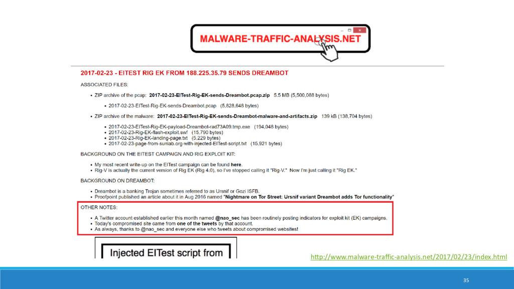 35 http://www.malware-traffic-analysis.net/2017...