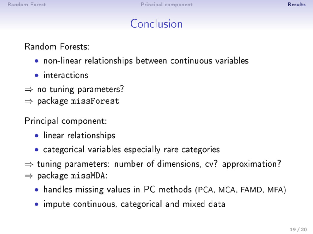 Random Forest Principal component Results Concl...
