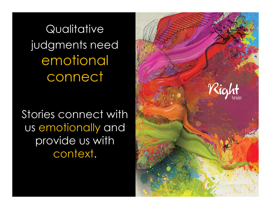 Qualitative judgments need emotional connect St...