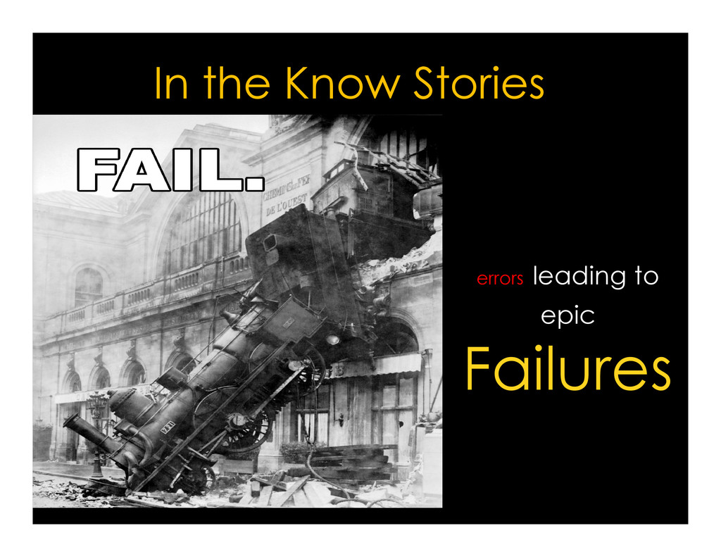 In the Know Stories errors leading to errors le...