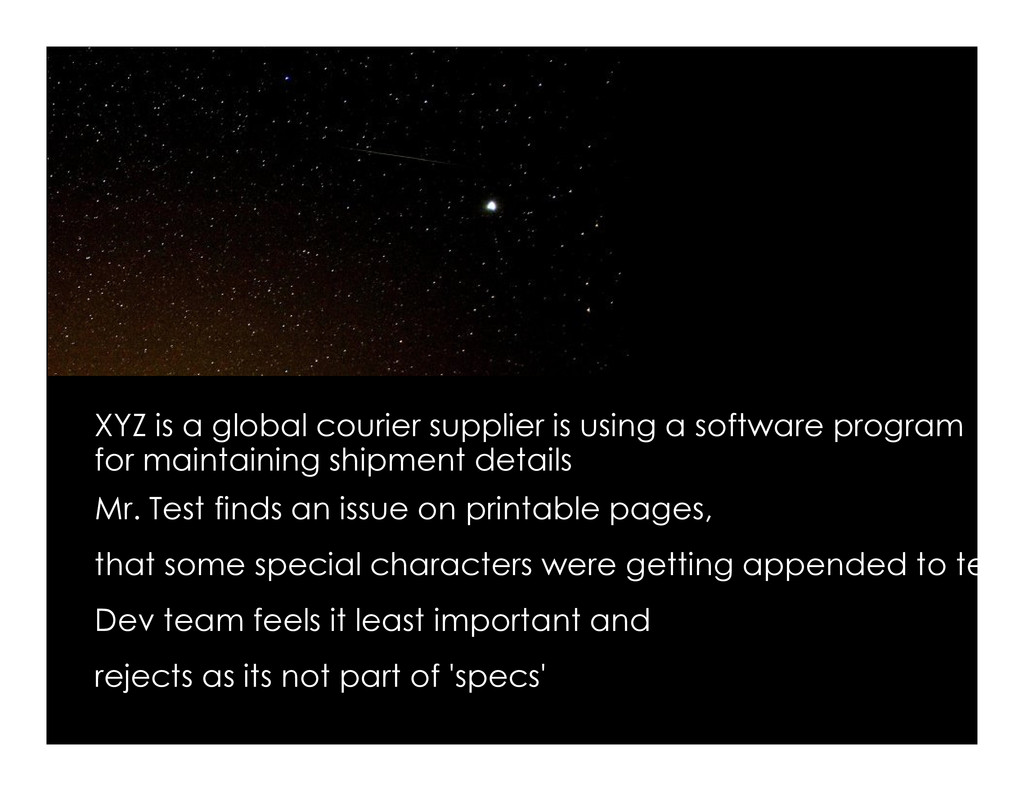 XYZ is a global courier supplier is using a sof...