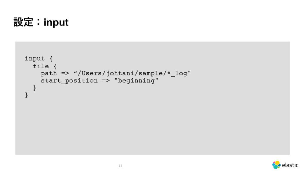 """ઃఆɿinput 14 input { file { path => """"/Users/joht..."""