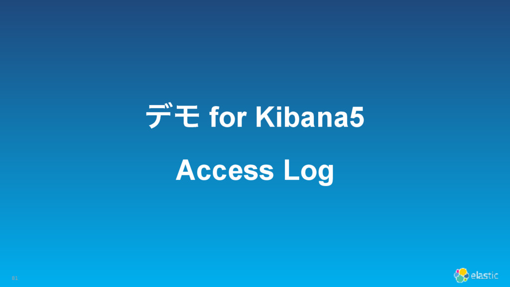 σϞ for Kibana5 Access Log 81
