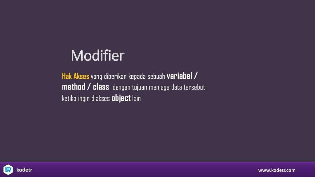 Modifier www.kodetr.com kodetr Hak Akses yang d...