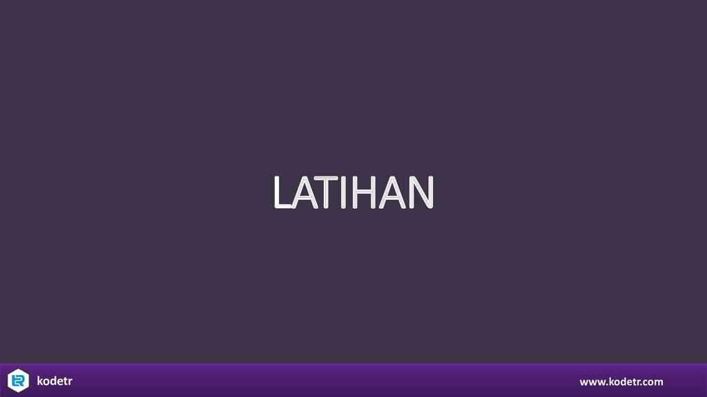 www.kodetr.com kodetr LATIHAN